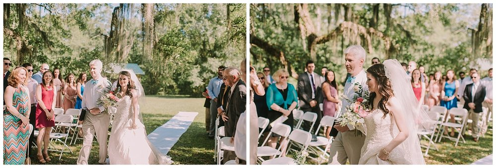 Bride Walking Down the Aisle Slidell