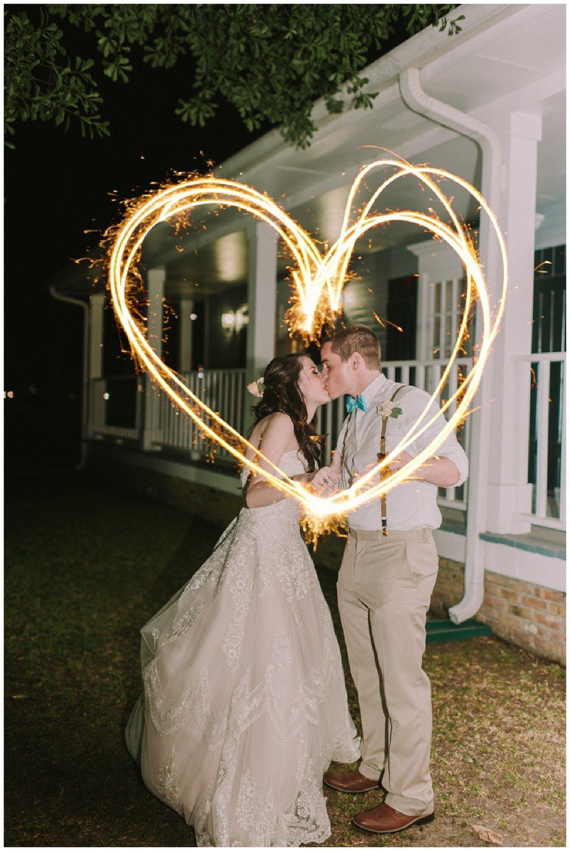 Sparkler Exit Slidell Wedding