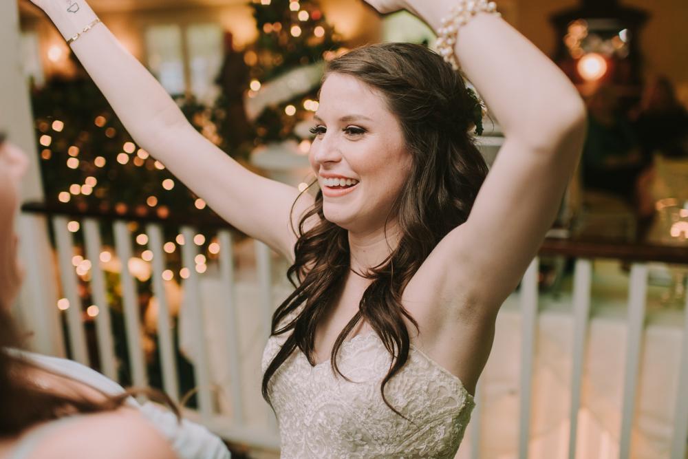 Bride Dancing at Slidell Wedding