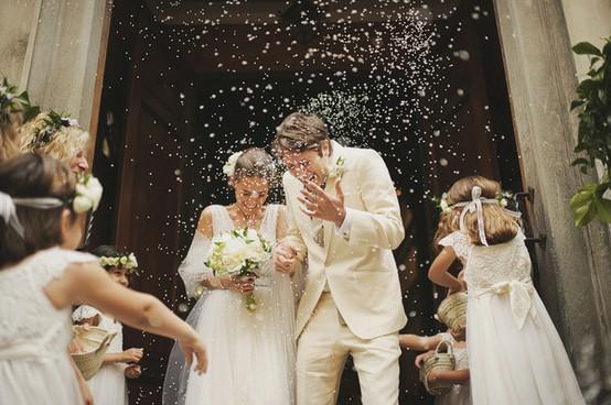 Throwing Rice Louisiana Wedding