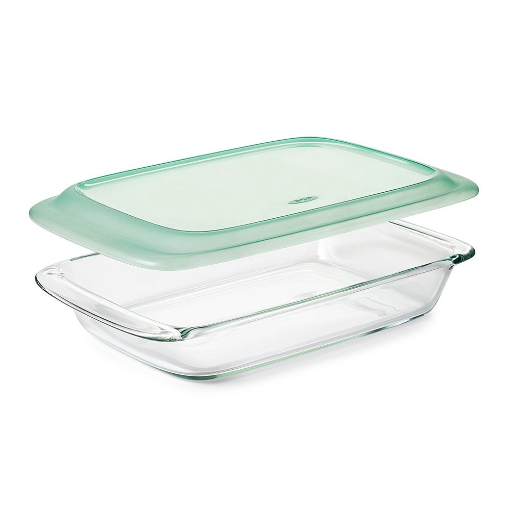 Casserole pans are necessary and this one can go from freezer to oven!   Amazon