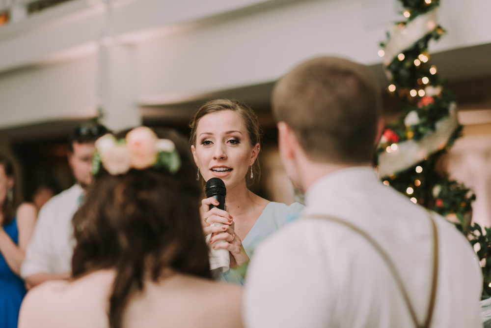 Maid of Honor giving speech at New Orleans Wedding