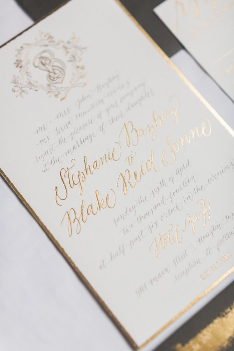 A Formal Invitation - Formal stationery has a unique look to it. It is often on white or cream colored paper, with black or gold accents. This classic look communicates a possibly formal wedding.A formal invitation is also worded differently than a more casual invitation. It usually begins with the names of the bride's parents requesting