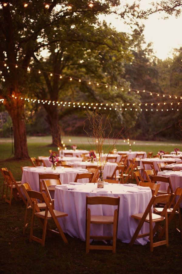 A Backyard Wedding - Does a casual wedding mean having it in your backyard? Not necessarily. But if you choose an indoor/outdoor venue, with the option of having an outdoor reception (weather permitting), it can definitely give your day a more casual feel. Have some tables and chairs set up, a buffet line, and some lawn games; your guests will feel like they are in their own backyard.