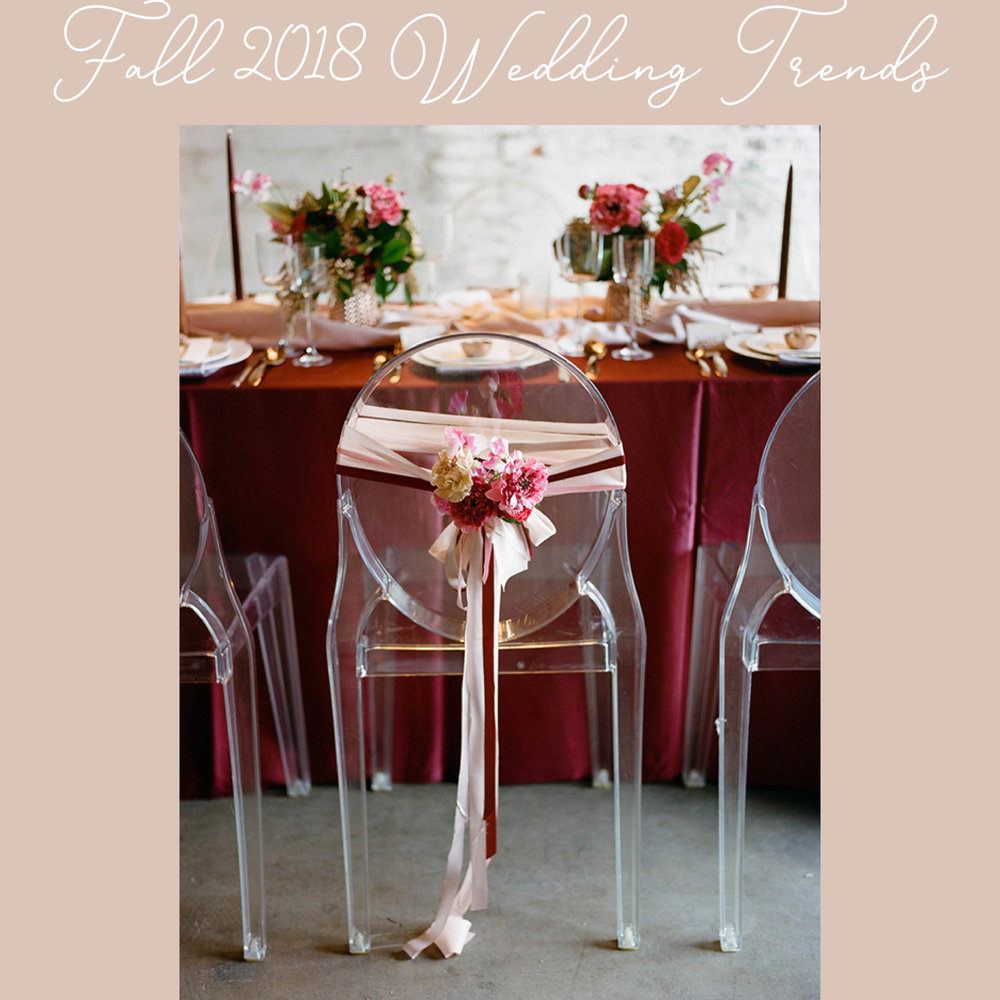 Fall 2018 Wedding Trends