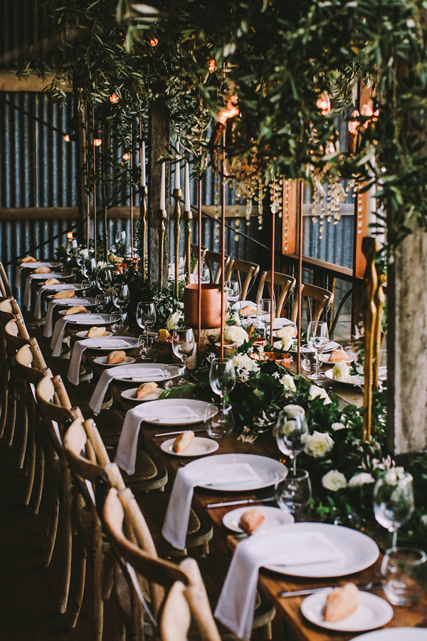 Copper Wedding Decor