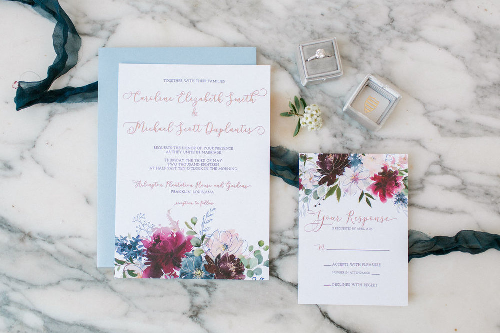 wedding invitations baton rouge