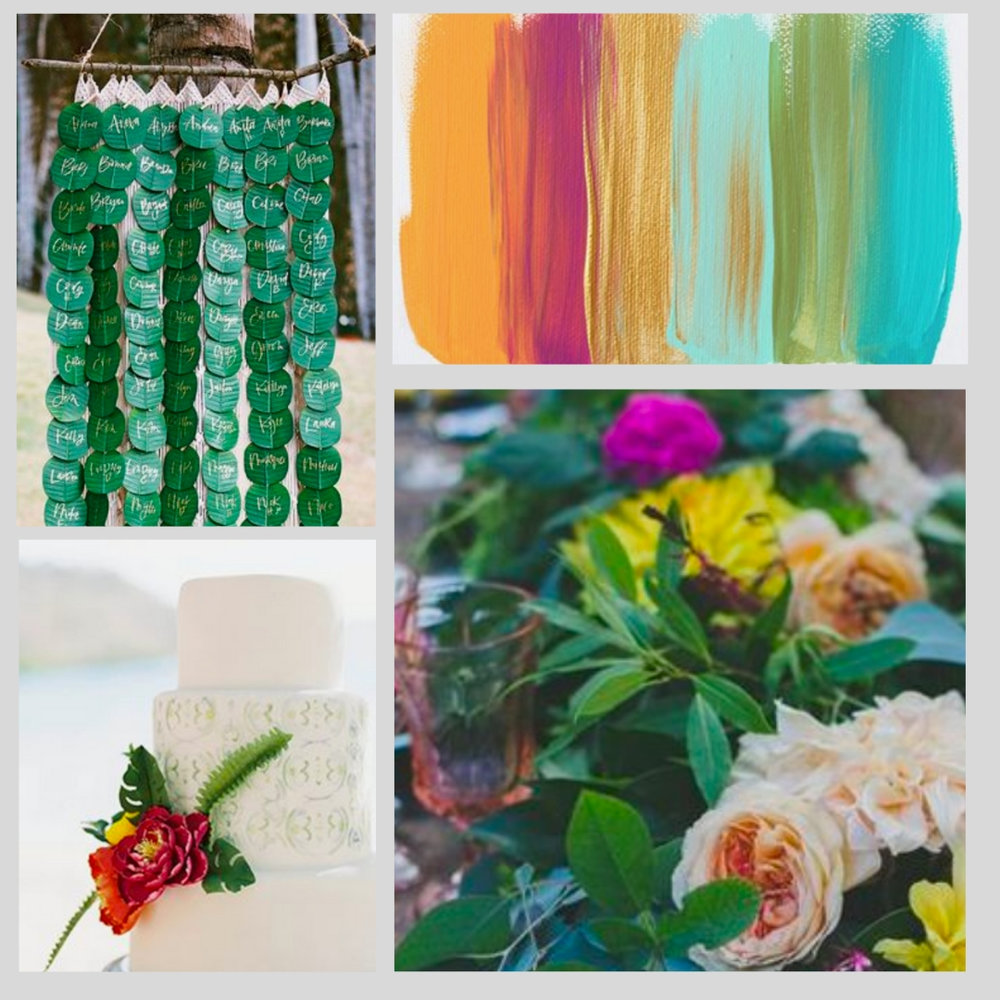 Tropical Summer Wedding Colors