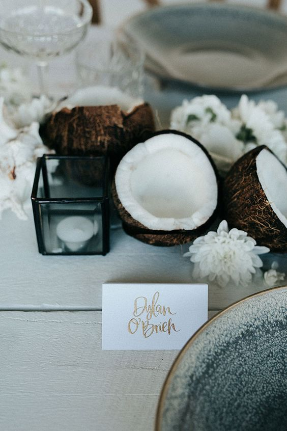 Photo Credit:  https://ruffledblog.com/dinner-party-coconuts-coral/