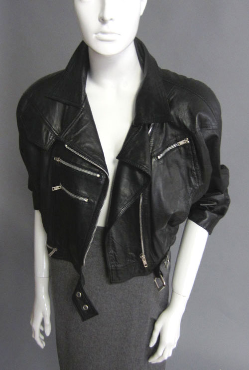 80s Leather Moto Jacket Alexandra New York