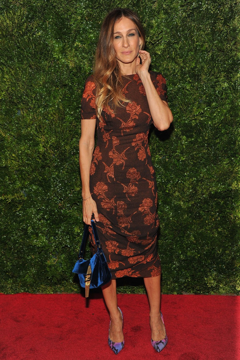 SARAH JESSICA PARKER in Vintage Estevez from ALEXANDRA NEW YORK  Red Carpet, Premiere of HBO's