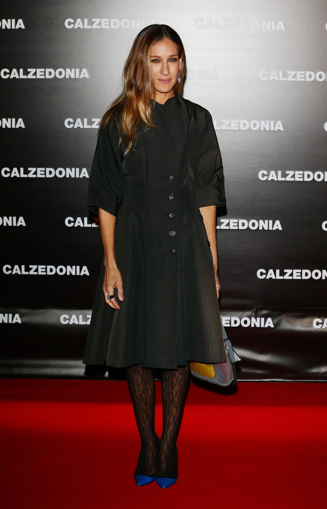 SARAH JESSICA PARKER in vintage GALANOS from ALEXANDRA NEW YORK - Red Carpet, CALZEDONIA Event, 2013