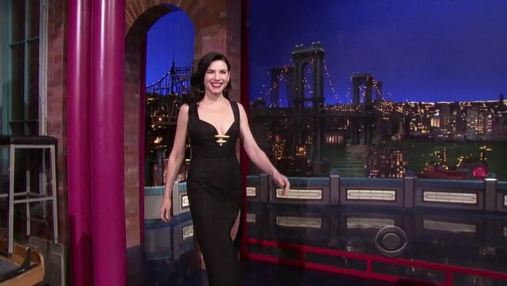 JULIANNA MARGULIES in vintage CHRISTIAN LACROIX from ALEXANDRA NEW YORK - DAVID LETTERMAN APPEARENCE, NYC, 2012