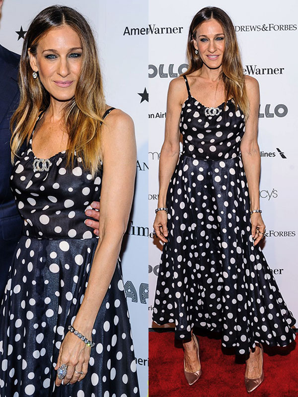 SARAH JESSICA PARKER in vintage LANVIN from ALEXANDRA NEW YORK - Red Carpet, Apollo Spring Gala, NYC, 2013