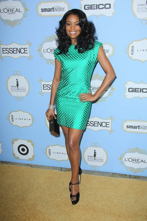GABRIELLE UNION in Vintage VERSACE from ALEXANDRA NEW YORK -  6th Annual Essence Online Black Women in Hollywood Luncheon, Beverly Hills, 2013