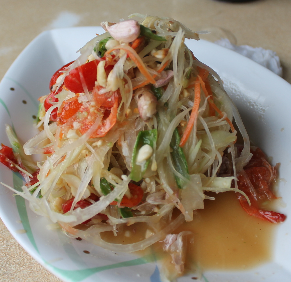 Fresh and spicy papaya salad