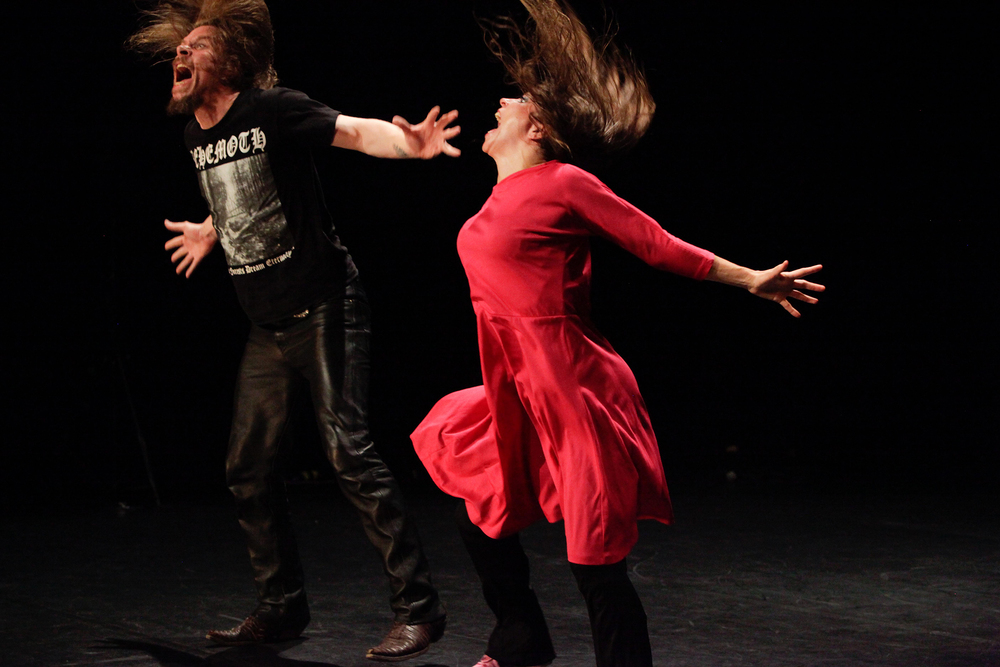 ERNA ÓMARSDÓTTIR AND VALDIMAR JÓHANNSSON WITH ICELAND DANCE COMPANY doing SACRIFICE: A HAPPENING