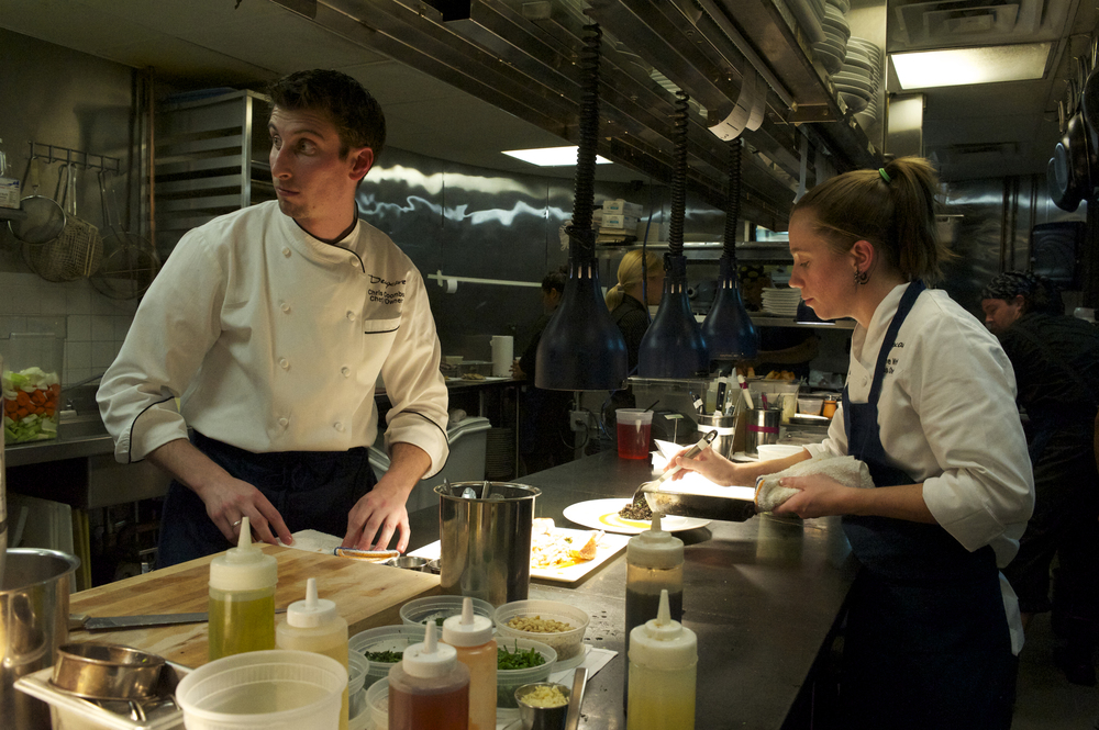 Chef Chris Coombs Behind the Line with Chef de Cuisine Adrienne Mosier.jpg