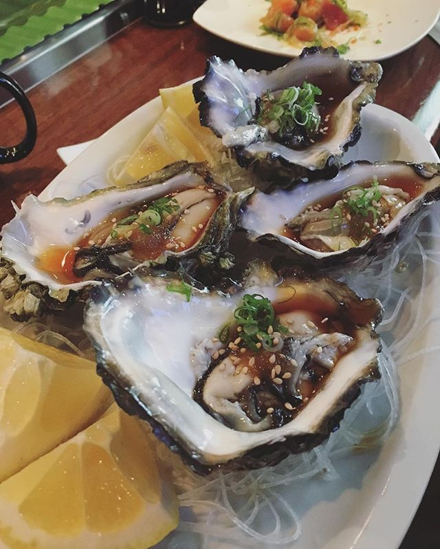 #oysters #california #happiness #santabarbara #yumesushi #yume #dream #japanese