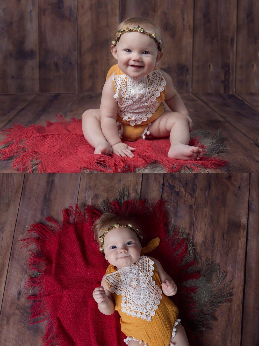 Wake Forest Milestone Photographer 6 month old baby girl.jpg
