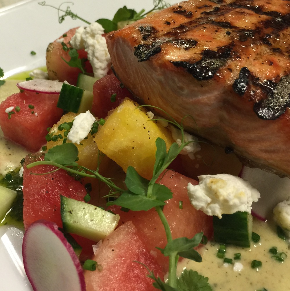 Alaskan Salmon, Watermelon