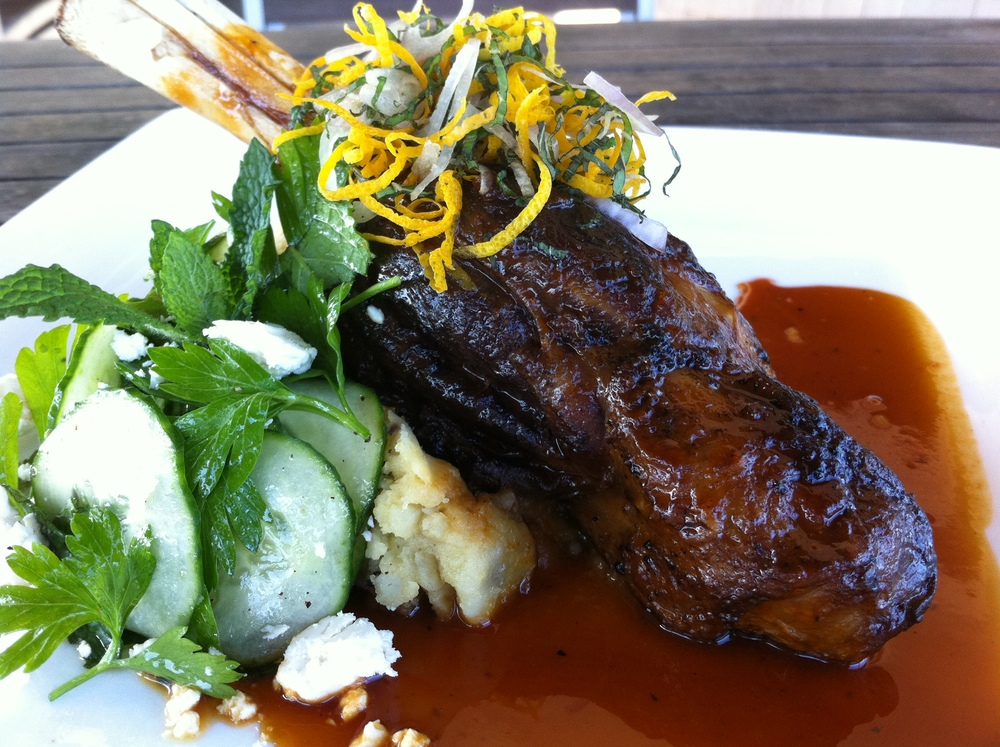 "Lamb Shank ""Flavors of Greece"""