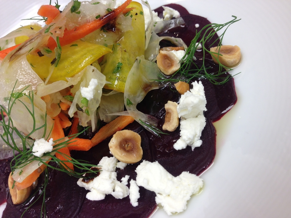 Shaved Beet & Fennel Salad