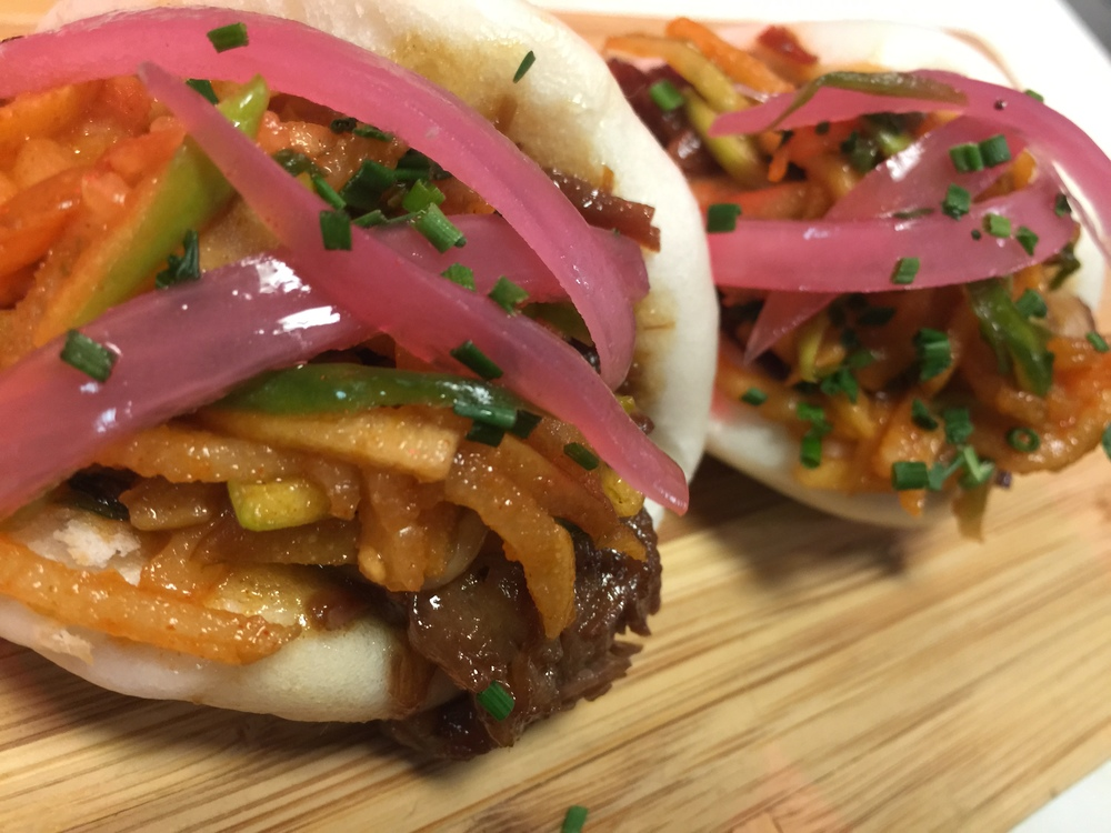 Korean BBQ Brisket Steam Buns