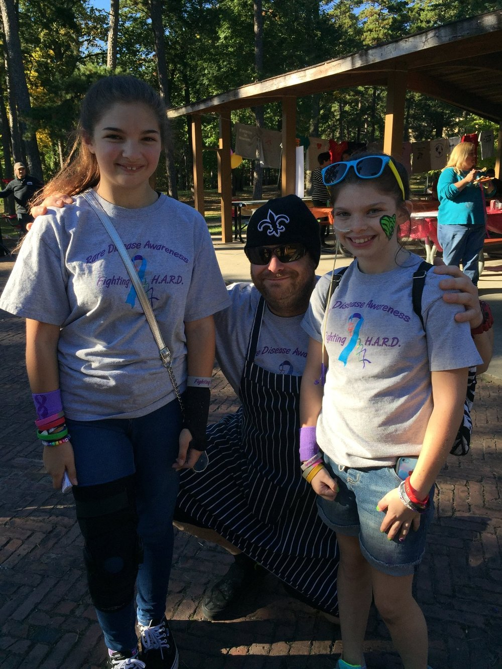 Allie, Jonna and Chef Michael | Fighting H.A.R.D.'s Family Fun Day '15