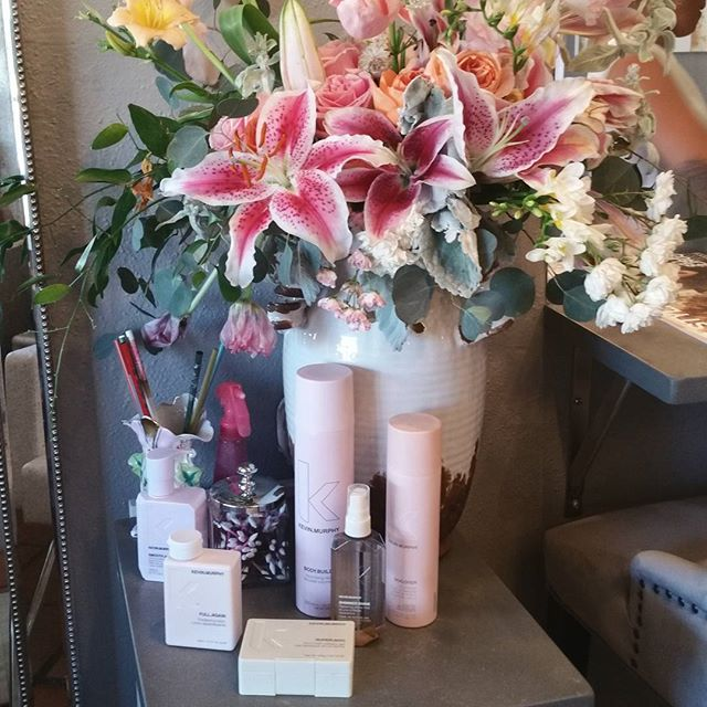 Beauty treats ♡ gorgeous flowers by @renegadefloral and our favorite product by @kevinmurphyhair ♡♡♡ . . #hair #makeup #makeupartist #photoshoot #creative #hairandmua #hairstyle #wild #editorial #lookbook #photography #love #instagood #santafe #landofenchantment #beauty #newmexico #simplysantafe #thebeautybarsantafe