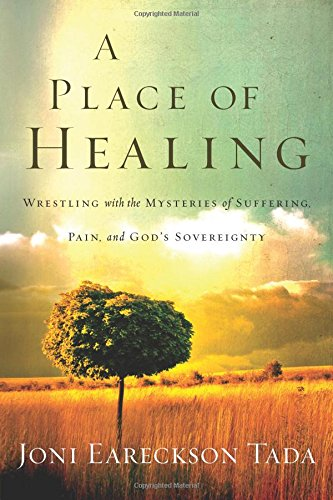 "- ""In this eloquent account of her current struggle with physical pain, Joni Eareckson Tada offers her perspective on divine healing, God's purposes, and what it means to live with joy.Over four decades ago, a diving accident left Joni a quadriplegic. Today, she faces a new battle: unrelenting pain. The ongoing urgency of this season in her life has caused Joni to return to foundational questions about suffering and God's will.A Place of Healing is not an ivory-tower treatise on suffering. It's an intimate look into the life of a mature woman of God. Whether readers are enduring physical pain, financial loss, or relational grief, Joni invites them to process their suffering with her. Together, they will navigate the distance between God's magnificent yes and heartbreaking no—and find new hope for thriving in-between.""Read more here…"