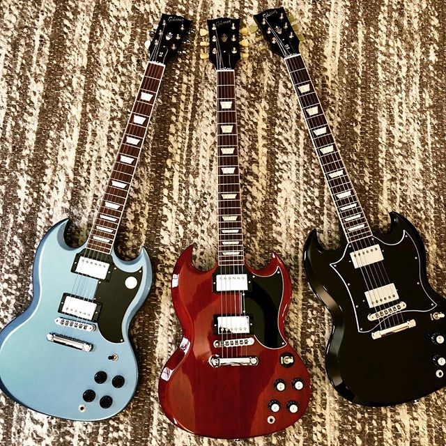 Too many choices. #gibson #gibsonsg #gibsonguitars #sg #reissue #guitar #gearporn #newguitar