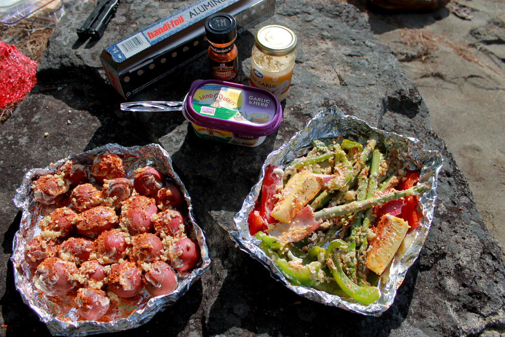 Canoe camping = better food