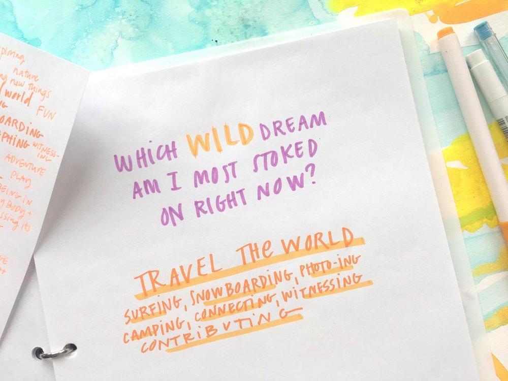 Wild dream chosen.