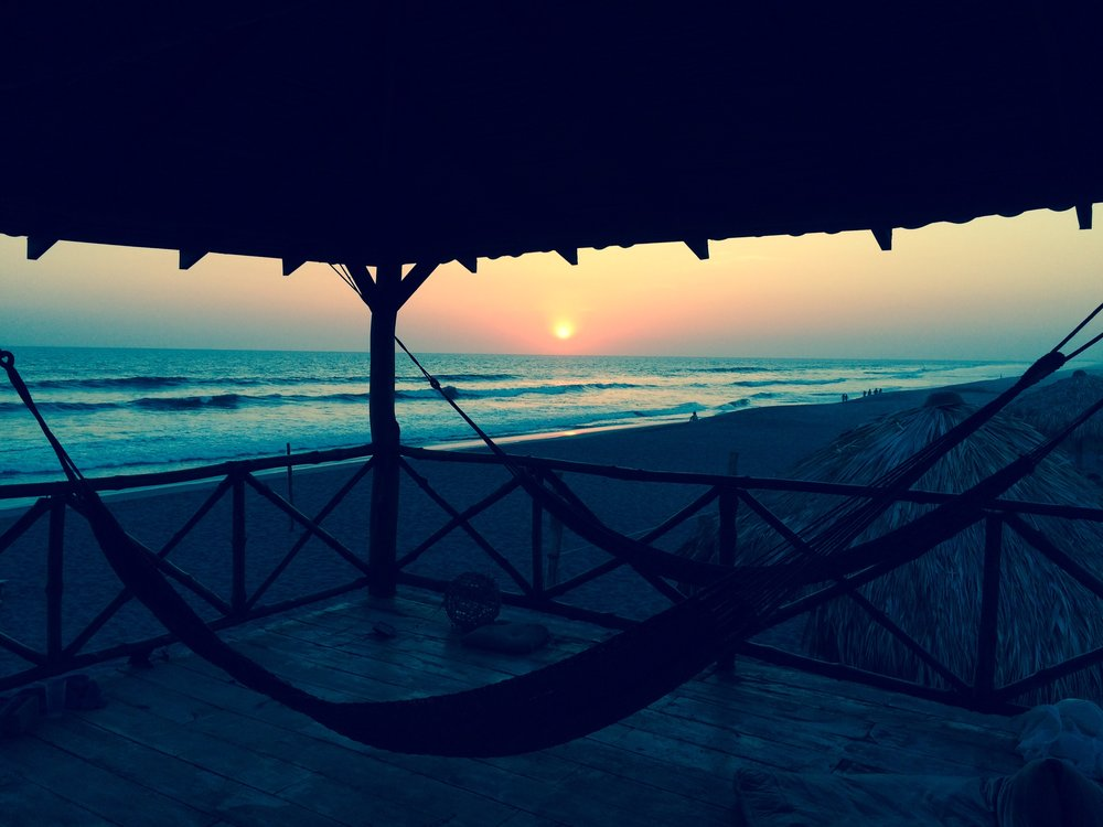 Yes please.  A perfectly sweet sunset from a girls surf trip last spring at Surfing Turtle Lodge, Nicaragua