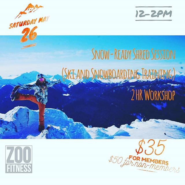 Yiieewww! I'm running a preseason training workshop at @zoofitness.penrith !!! Come enjoy some targeted yoga, pilates, and conditioning flows to get snow ready! Back in the day @jake_blauvelt inspired me to add yoga to my training and my performance improved tremendously. I've also included some gems of wisdom from my former coach @bkpro_ as well as some strength training from casually spying on @jakeburton77 while working out alongside at Stowe's @topnotchresort 😂😂😂 . . . Leave with a customised program to get ready to shred and butter your heart out ❄️❄️❄️ . . .  Inbox @zoofitness.penrith to secure a spot! Stoked. ☃️