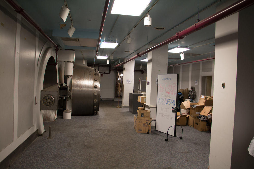 Rediscovery - After the Reserve Banks relocation in 1976, The Vault has been used for numerous things over the years and had more recently become a dumping ground and storage space for the building.