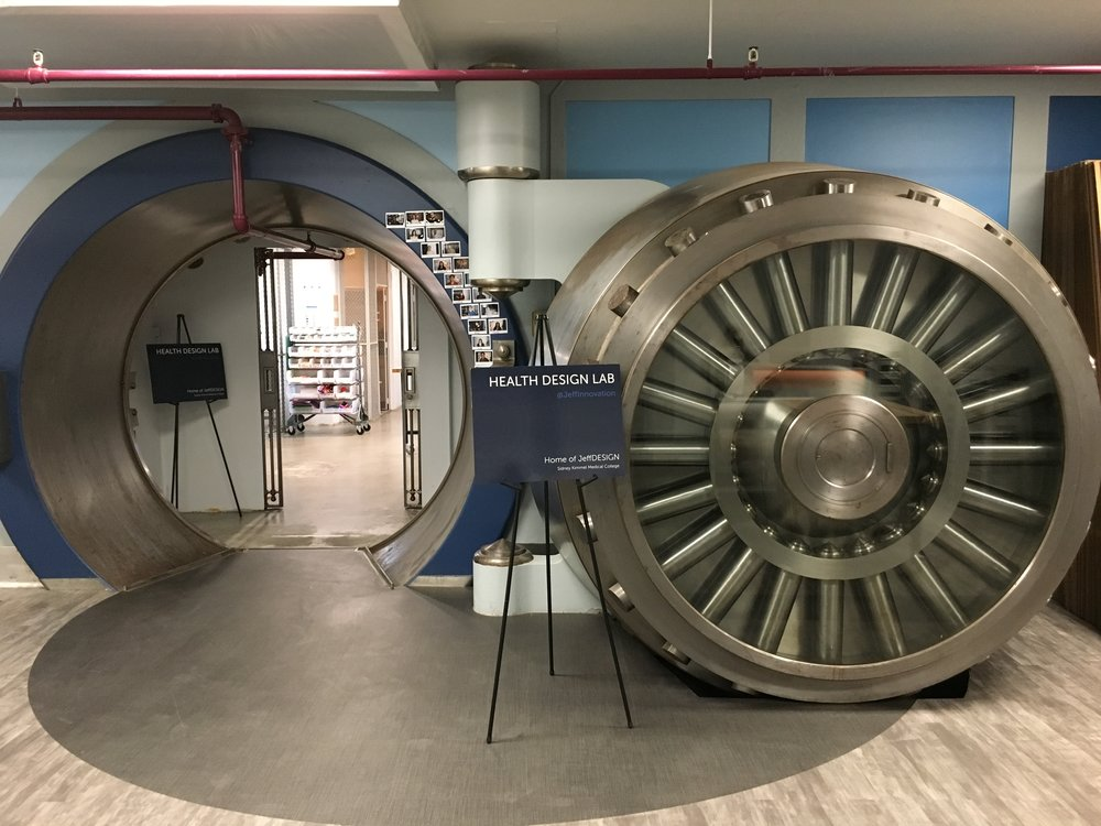 The Health Design Lab - The Vault of the former Second Federal Reserve Bank of Philadelphia has found new life with Jefferson Innovation and JeffDESIGN.