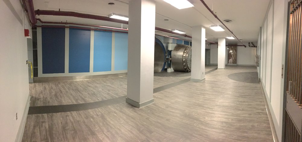 New Life - No longer forgotten, the Vault received a much needed revitalization, preparing it for the soon to be grand opened Health Design Lab @JeffInnovation