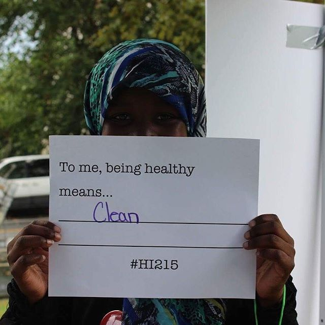 """To me, being healthy means clean."" #HI215 @tdbank_us"
