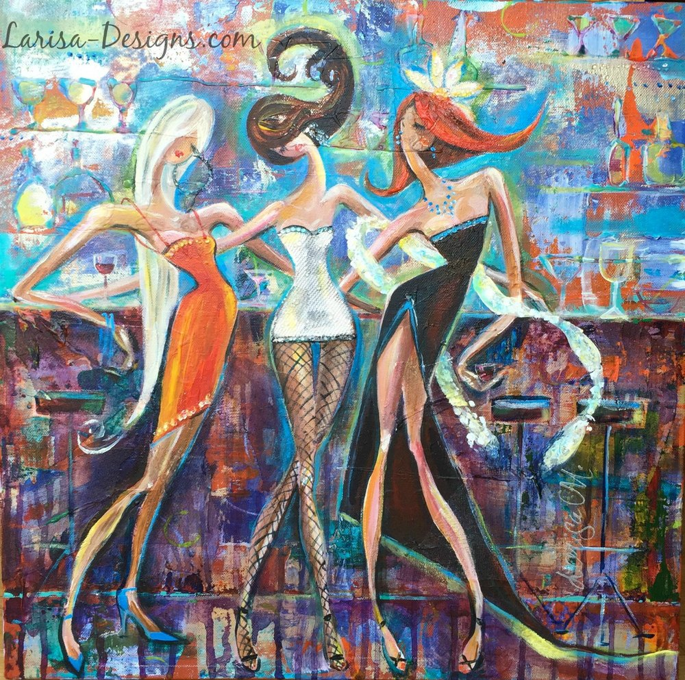 Girls Night Out~Tracey 20X20 Available