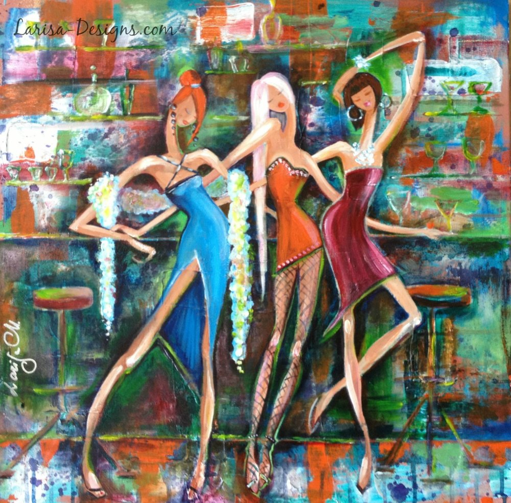 Girls Night Out~Susan 24X24 Available