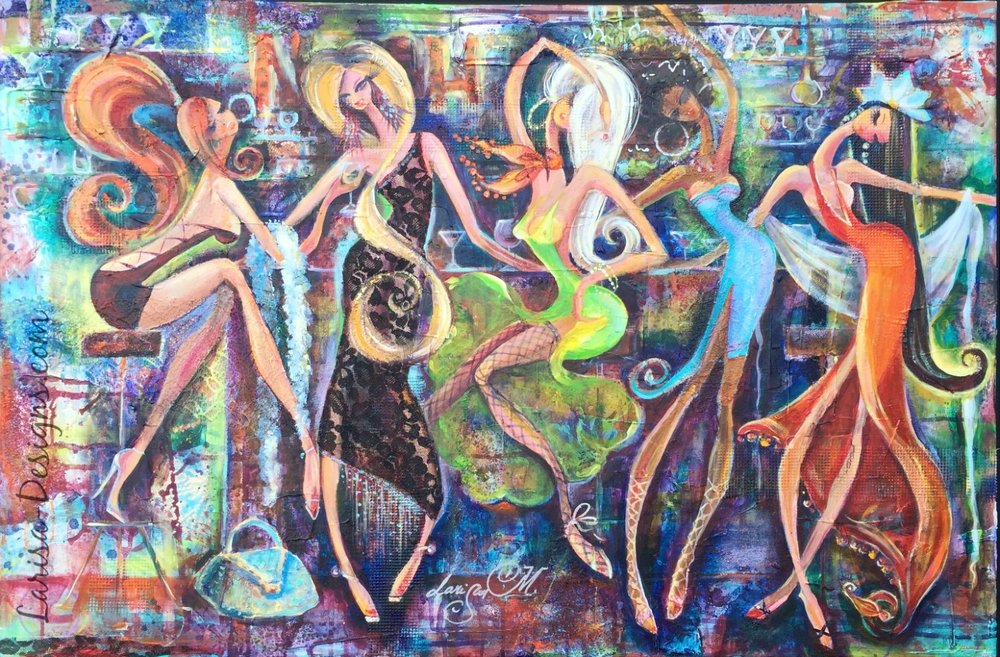 Girls Night Out~Kate 24X36 Available