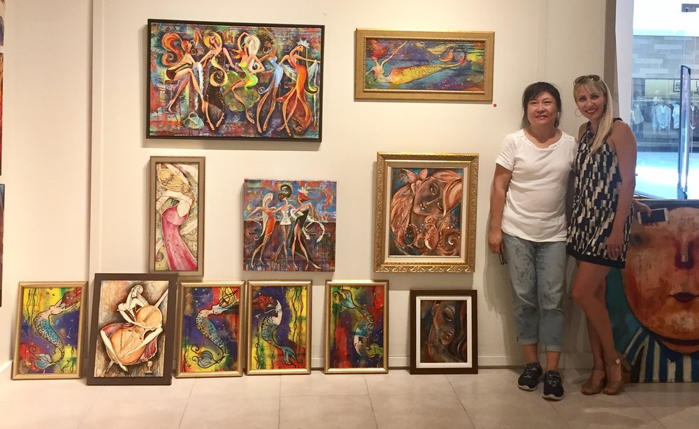 With new art collector from China