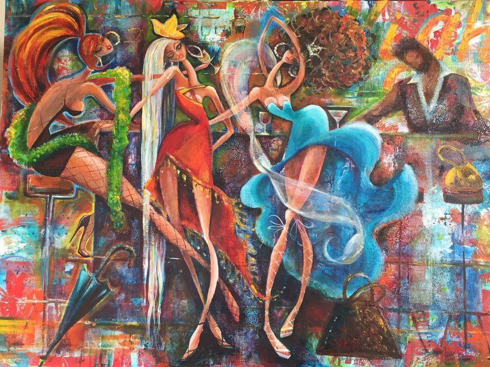 Girls Night Out-Santina 30X40