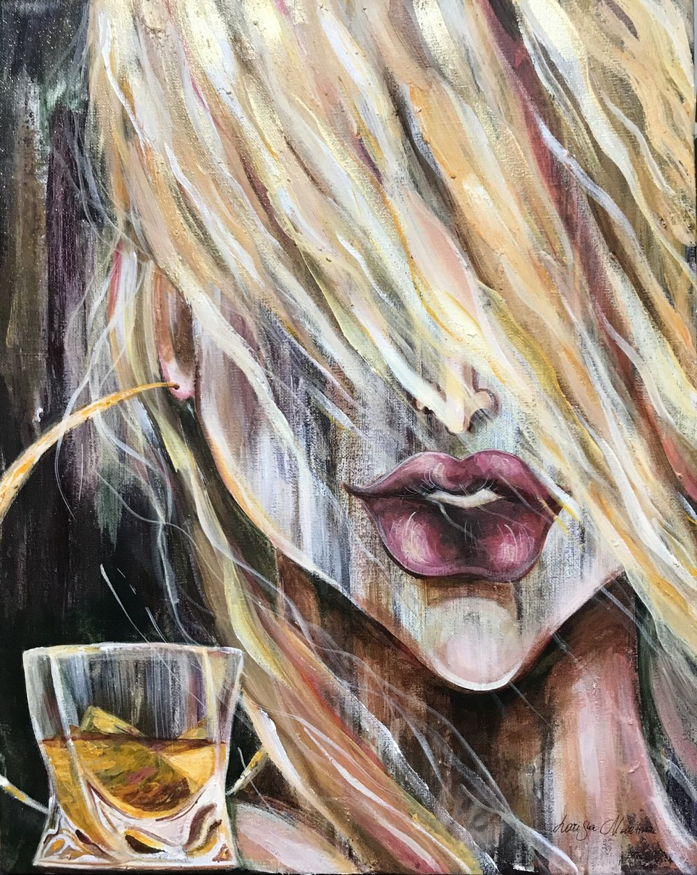 Scotch Girl- 16X20. Sold.