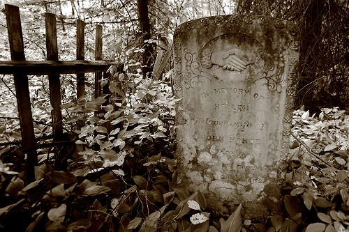 headstone in donald, BC cemetery - in memory of hellen harte              who died in 1892.         photo credit:  grant lockhart