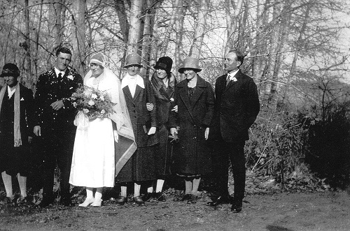 Katharine Crafter and Herbert Day - wedding at the cathedral church of st. michael & all Angels, kelowna Nov. 14, 1928