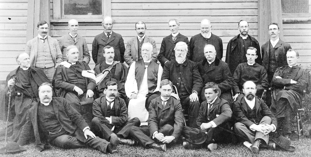 first diocesan synod at nelson may 29-30, 1900. bishop john dart is in the centre.