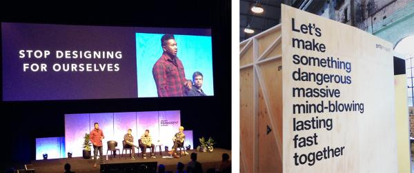 Left: Dantley Davis, Netflix Director of Product Design, Right: Getty Images display